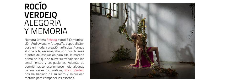 Rocío Verdejo. Fotógrafa. Fichados masdearte