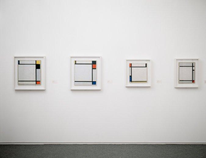 Los cuatro Mondrian de Kunstmuseen Krefeld