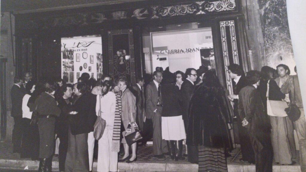 Apertura de la Galería Joan Prats en 1976