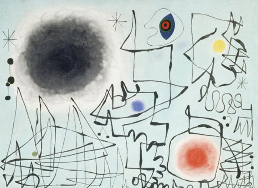 Joan Miró. El diamante sonríe al crepúsculo, 1947. Fundació Joan Miró