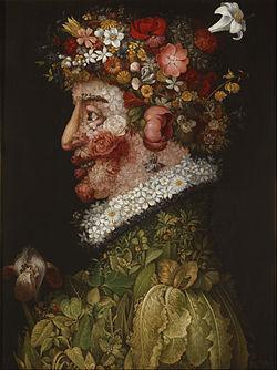 Arcimboldo. La primavera, 1563. Museo de la Real Academia de Bellas Artes de San Fernando