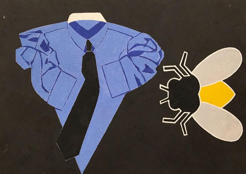 Eduardo Arroyo. Camisa y mosca. Galería Álvaro Alcázar