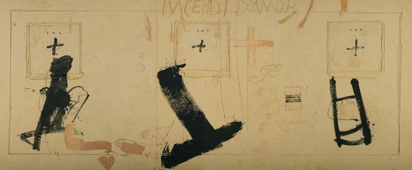 Antoni Tàpies. Incendi, 1991. Museo Universidad de Navarra