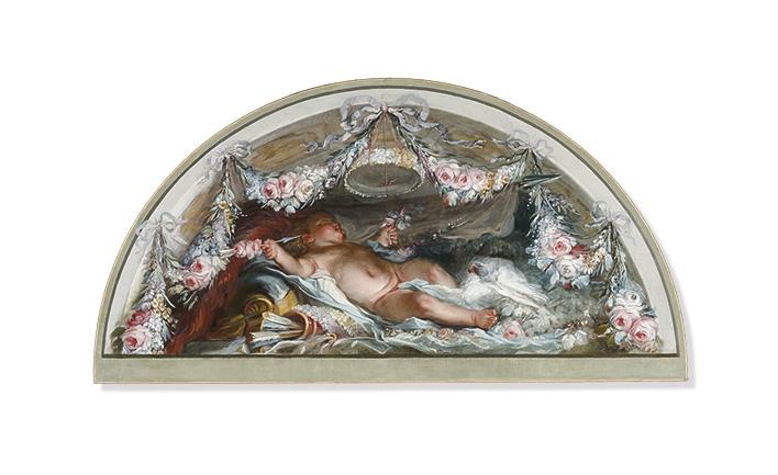 Luis Paret y Alcázar. Triunfo del Amor sobre la Guerra, 1784. Museo de Bellas Artes de Bilbao