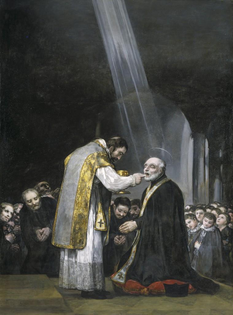 Francisco de Goya. Última comunión de San José de Calasanz, 1819. Colección Padres Escolapios, Madrid