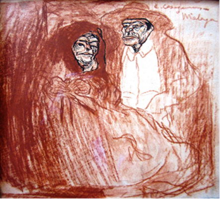 Carles Casagemas. Pareja de viejos, de Carles Casagemas, 1900-1901