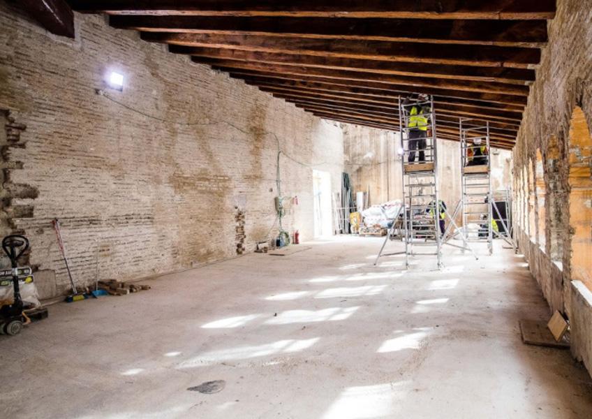 Obras de remodelación del futuro Centro Hortensia Herrero