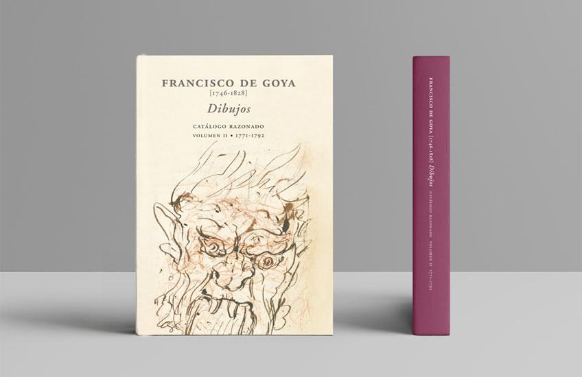 Portada Volumen II del catálogo razonado de dibujos de Goya