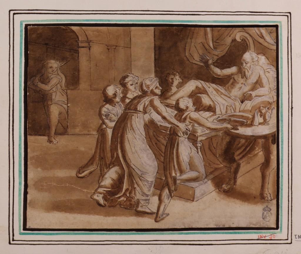 Anónimo (copia de Rafael Sanzio). La bendición de Jacob