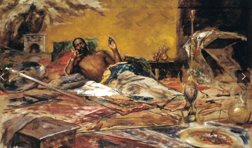 Antoni Fabrés. Reposo del guerrero, 1878