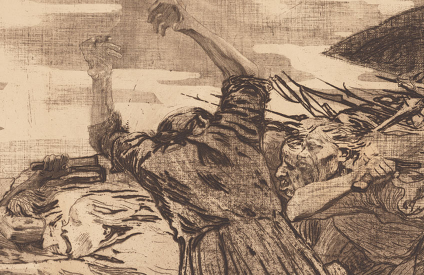 Käthe Kollwitz. Charge, 1902-1903. The Getty Research Institute