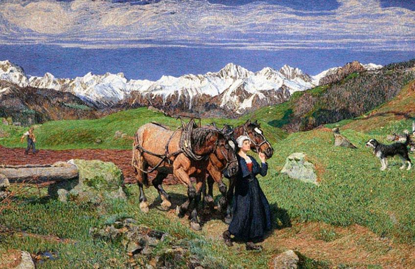 Giovanni Segantini. Primavera en los Alpes, 1897
