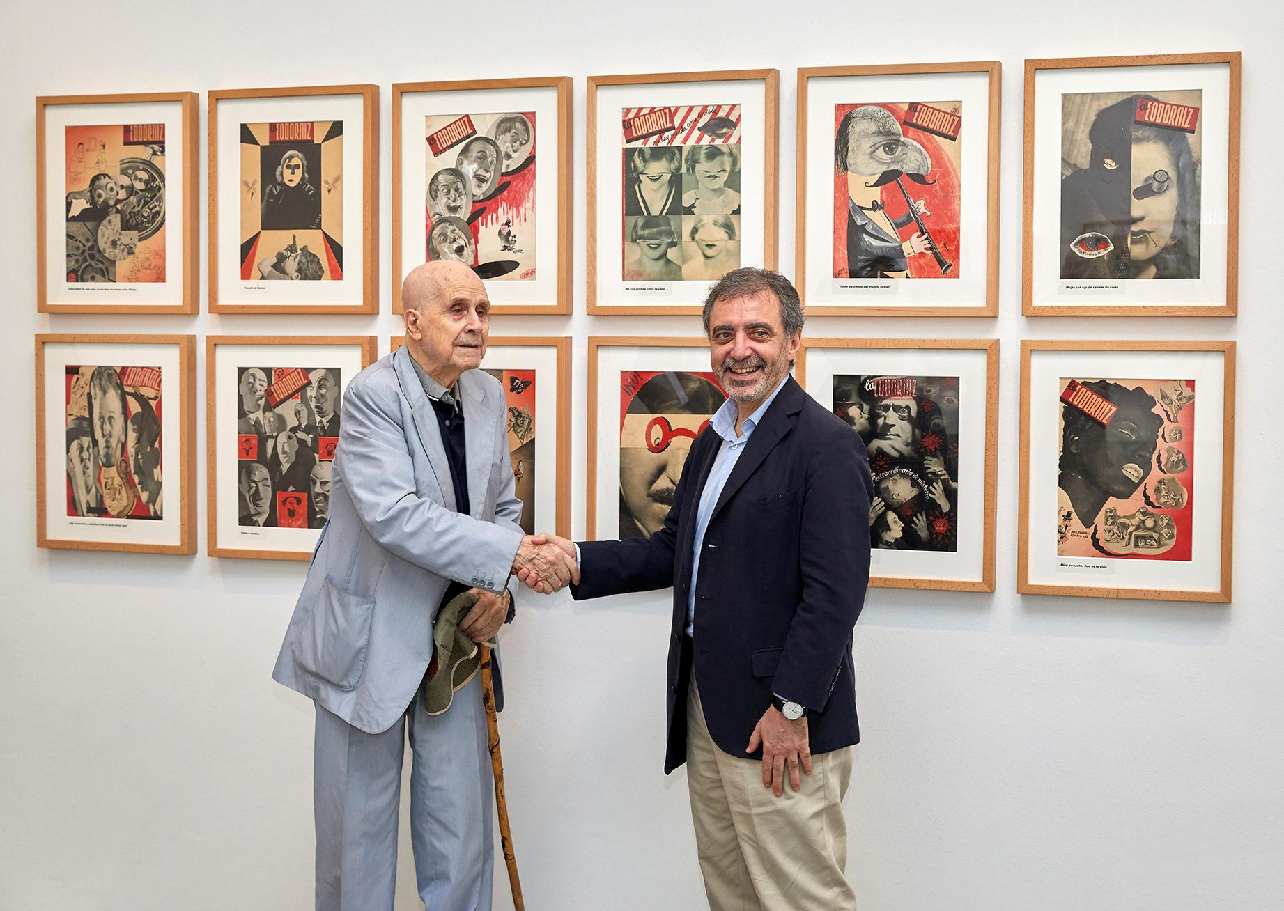 Manuel Borja-Villel, director del Museo Reina Sofía, y Enrique Herreros