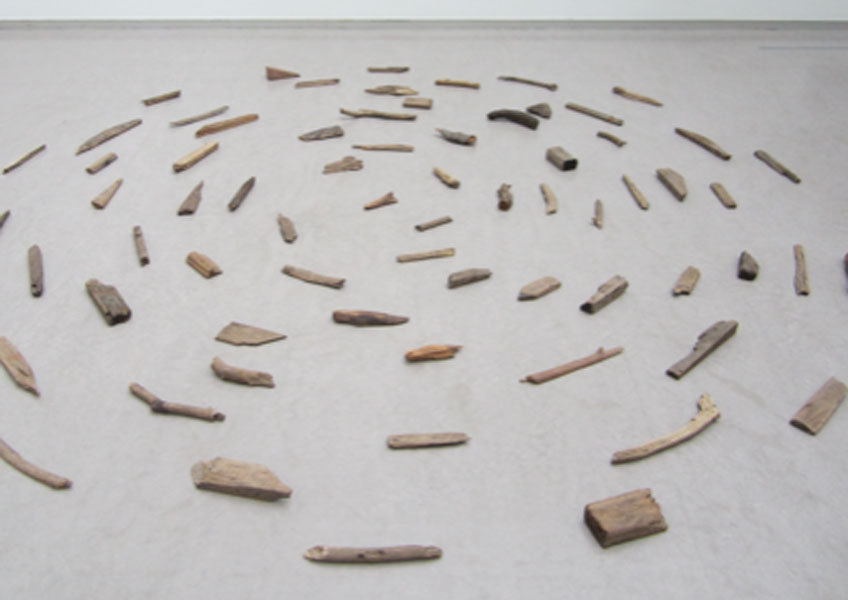 Richard Long. River Avon driftwood piece, 1975