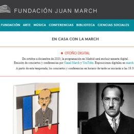 El otoño en la Fundación Juan March será digital