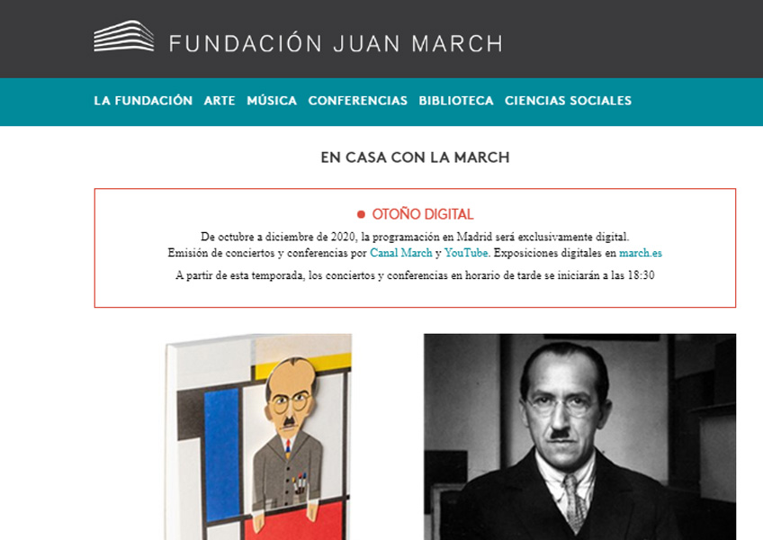 Portal web de la Fundación Juan March