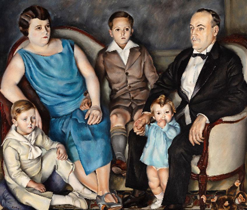 Josep de Togores. Retrato de la familia Mestre, 1927. Meadows Museum, Dallas