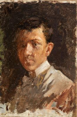 Pablo Picasso, Autoretrat. Barcelona, Museu Picasso Barcelona en dipòsit al Museu Nacional. Donació Pablo Picasso, 1970 © Sucesión Pablo Picasso, VEGAP, Madrid, 2018