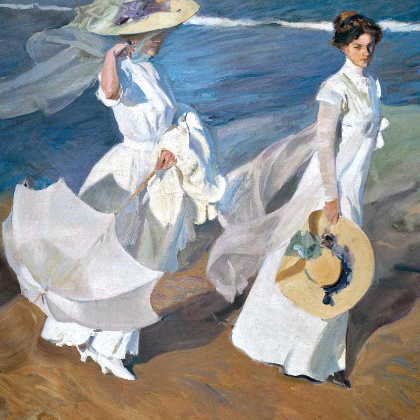 Joaquín Sorolla. Paseo a la orilla del mar, 1909. Fundación Museo Sorolla
