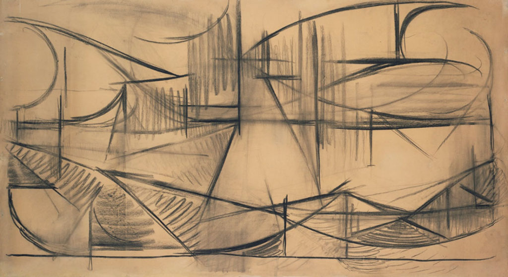 Mondrian. Reclining Nude (Dunes and Sea), 1910