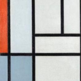 Mondrian. Composición en rojo, negro, amarillo, azul y gris, 1921