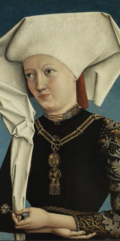 Retrato de una dama con la Orden del Cisne, c. 1490. Museo Thyssen-Bornemisza