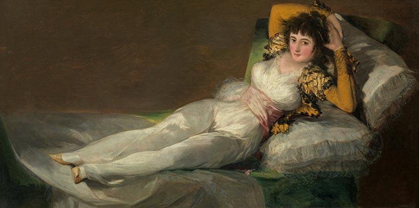 Francisco de Goya. La maja vestida, 1800-1807. Museo Nacional del Prado