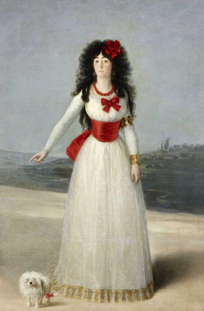 Francisco de Goya. María del Pilar Teresa Cayetana de Silva Álvarez de Toledo, XIII duquesa de Alba. Fundación Casa de Alba