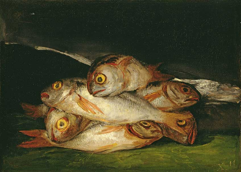 Francisco de Goya. Naturaleza muerta con doradas, 1808-1812. The Museum of Fine Arts Houston