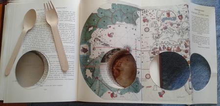 Mapa Mundi. Una de las obras que formaban parte del art happening de Glenda León y Paco Roncero