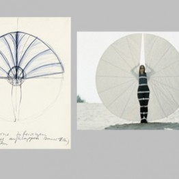 Rebecca Horn Boceto para Fan, 1970 White Body Fan, 1972