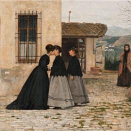 Silvestro Lega. La visita (fragmento), 1858. Galleria Nazionale d'Arte Moderna e Contemporanea, Roma © Galleria Nazionale d'Arte Moderna, Roma / Antonio Idini