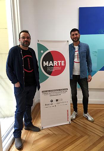 Joan Feliú y Nacho Tomás, directores de MARTE. Feria de Arte Contemporáneo de Castellón