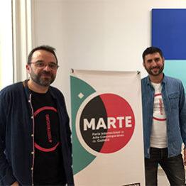 Joan Feliu y Nacho Tomás, directores de MARTE. Feria de Arte Contemporáneo de Castellón