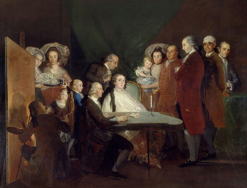 Francisco de Goya. La familia del infante don Luis, 1783-1784. Fundación Magnani-Rocca de Mamiano di Traversetolo
