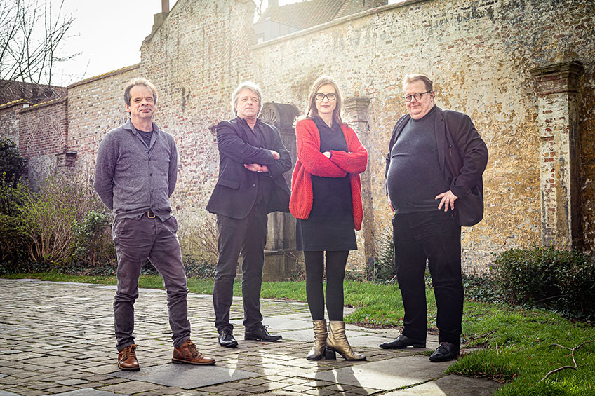 Equipo curatorial Trienal Brujas 2021. Foto: Matthias Desmet