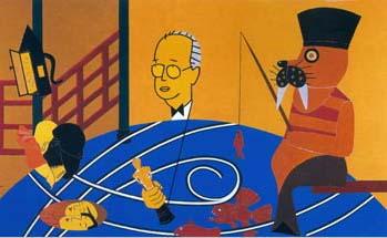 Eduardo Arroyo, Rashomon, 2000