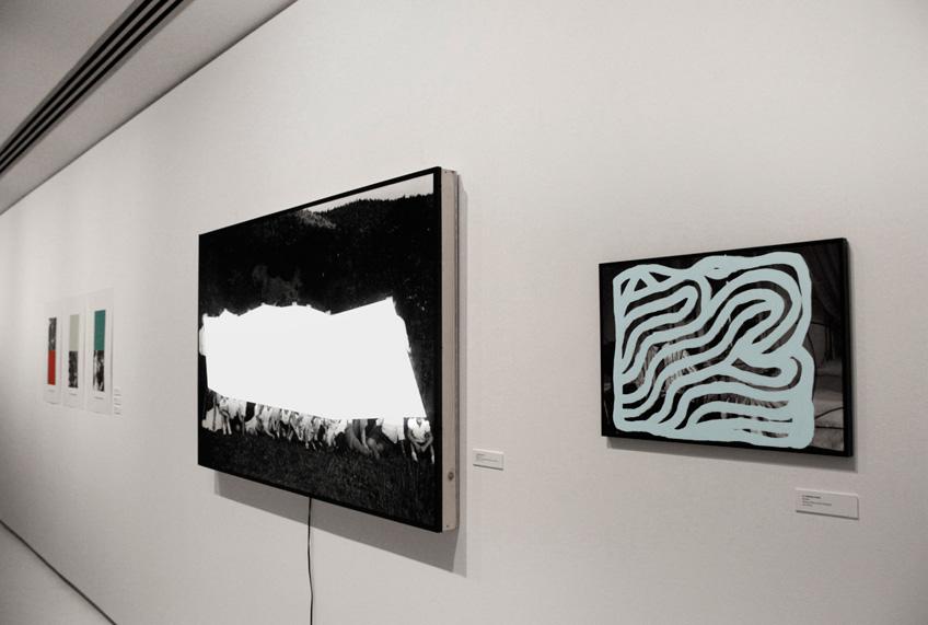 Manuel Diego Sánchez en la muestra de los seleccionados en ART < 35 2016. Sala Parès y Galería Trama