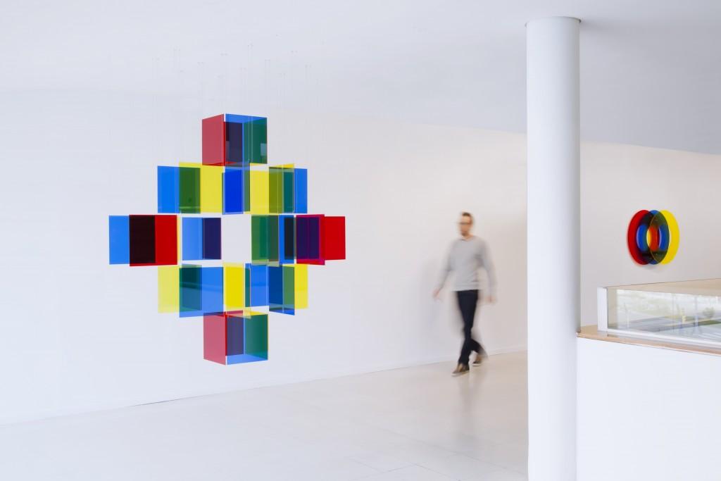 Exposición Interferencias Primarias en la Sala B del CEART (Centro de Arte Tomás y Valiente de Fuenlabrada).