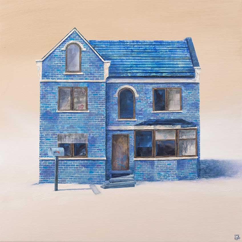 Rosa Álamo. Blue home, 2016