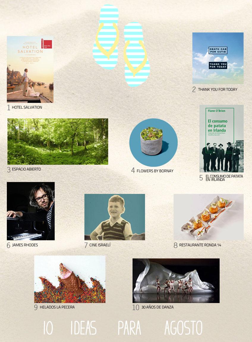 Ideas y planes. 10 cosas que hacer en el mes de agosto