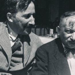 Zweig y Roth fotografiados en Ostende en 1936