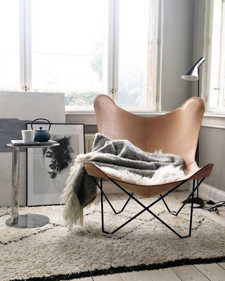 Butterfly Chair, modelo clásico en cuero
