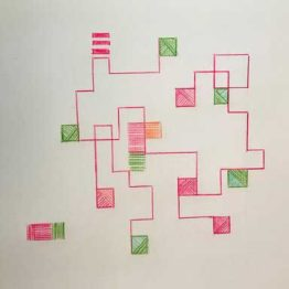 Diseños de Helena Rohner para Iloema, inspirados en Anni Albers y en la Bauhaus