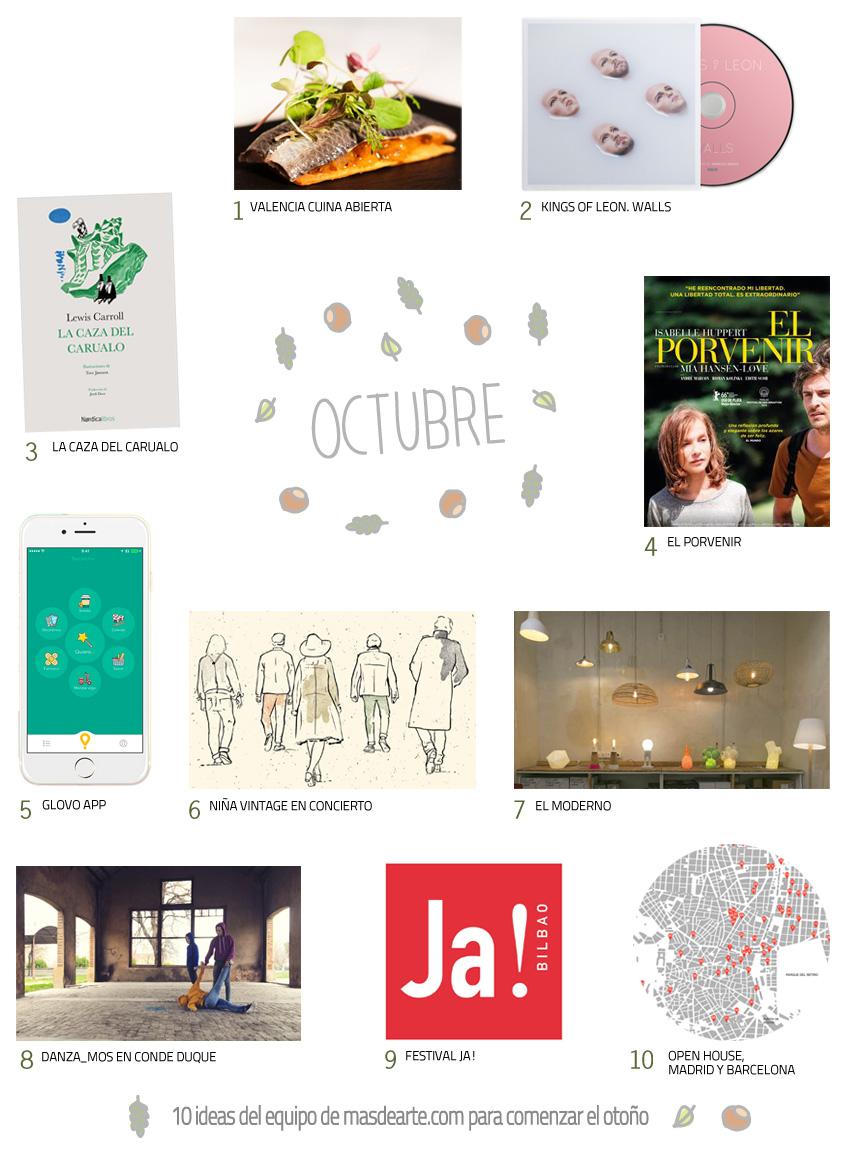 Planes. 10 cosas que hacer o ver en octubre 2016