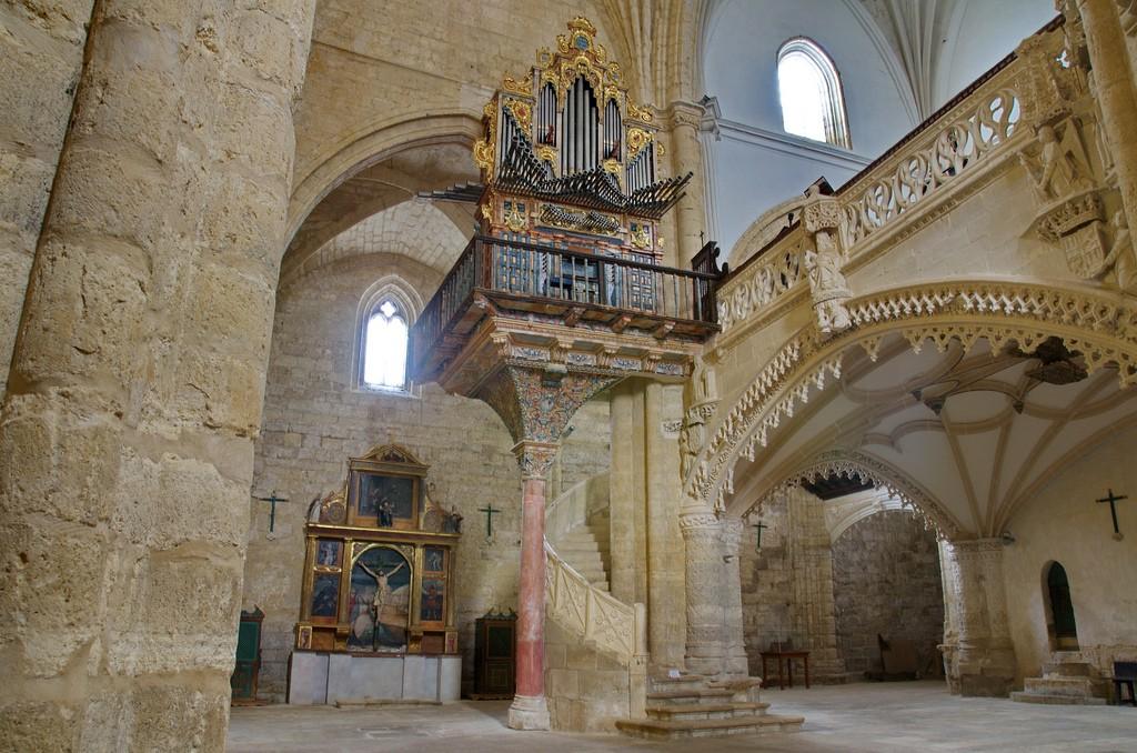 Interior de la iglesia de san Hipólito. Támara de Campos, Palencia