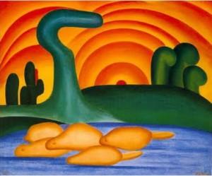 Tarsila do Amaral. Sol Poente, 1929
