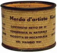 Piero Manzoni. Merda d'artista, 1961. Conceptualismo