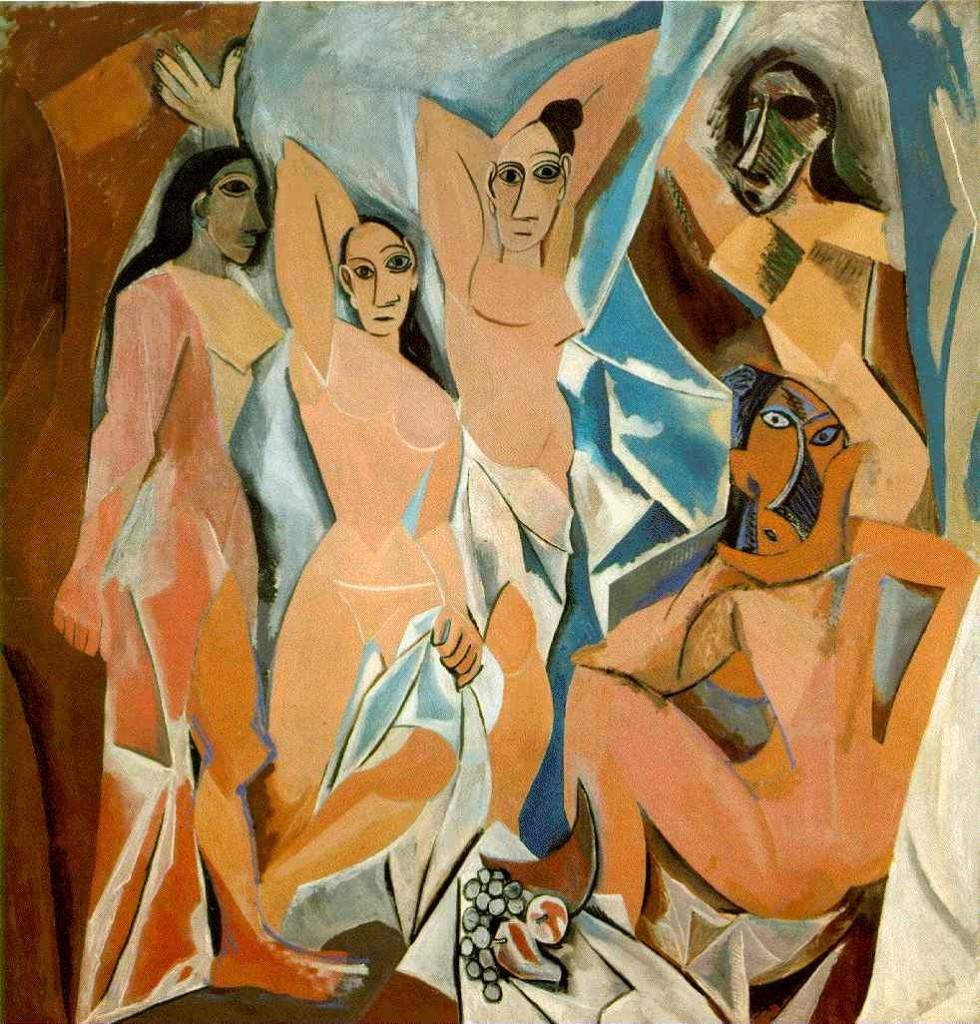 Pablo Picasso. Las Señoritas de Aviñón, 1907. Museo de Arte Moderno, Nueva York