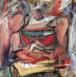 Expresionismo abstracto. De Kooning. Woman V, 1952-1953